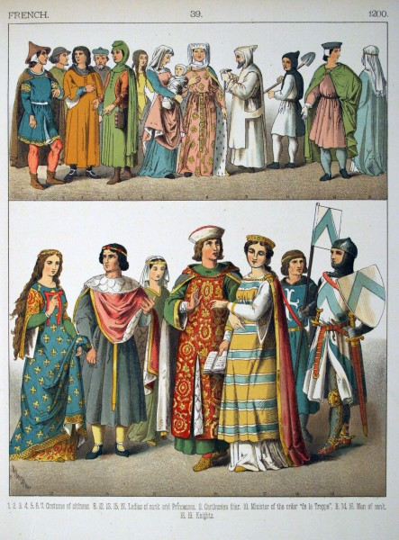 1200, French. - 039 - Costumes of All Nations (1882)