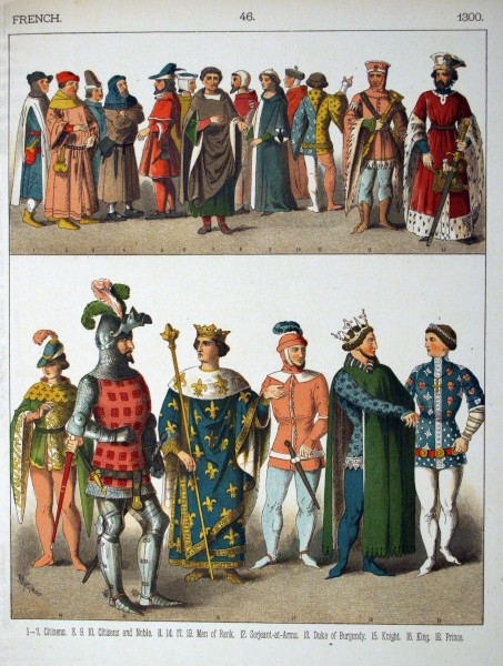 1300, French. - 046 - Costumes of All Nations (1882)