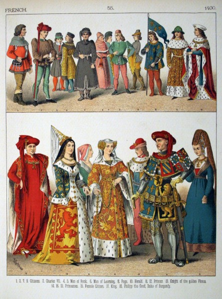 1400, French. - 055 - Costumes of All Nations (1882)