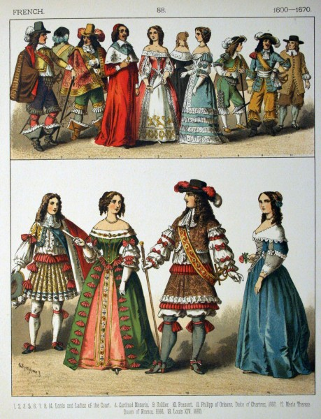 1600-1670 French. - 088 - Costumes of All Nations (1882)