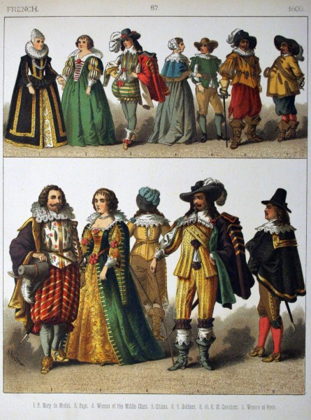 1600, French. - 087 - Costumes of All Nations (1882)