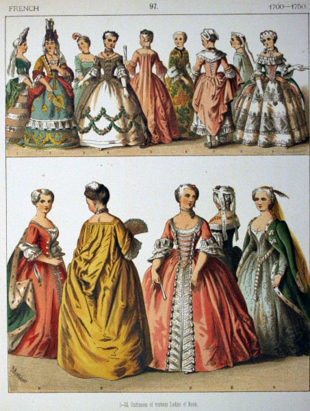 1700-1750, French. - 097 - Costumes of All Nations (1882)