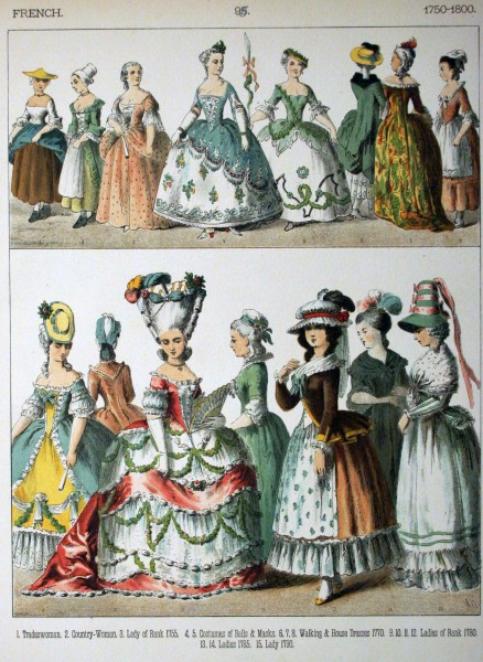 1750-1800, French. - 098 - Costumes of All Nations (1882)