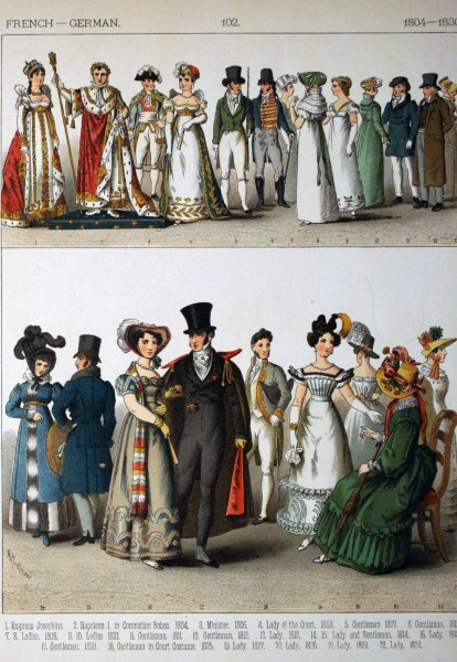 1804-1830, French - German. - 102 - Costumes of All Nations (1882)