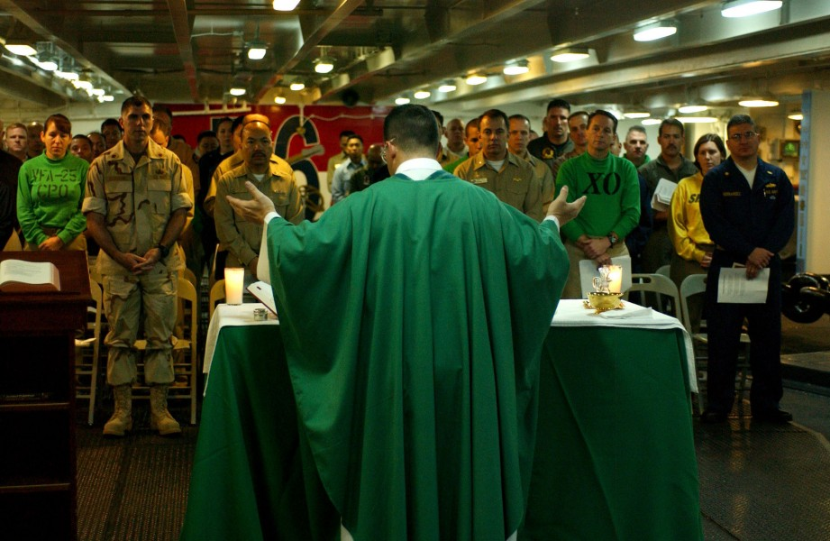 Catholic Mass aboard USS Ronald Reagan