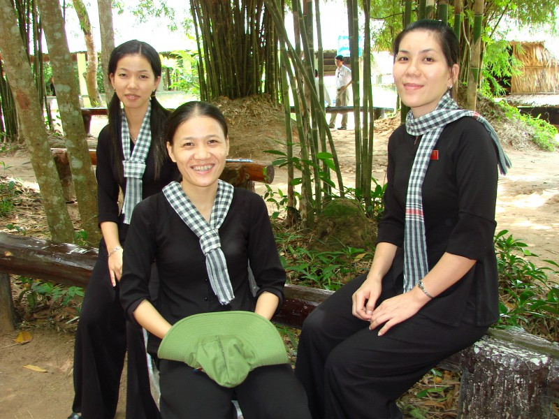 Female Guards - Cu Chi Tunnels - VIetnam