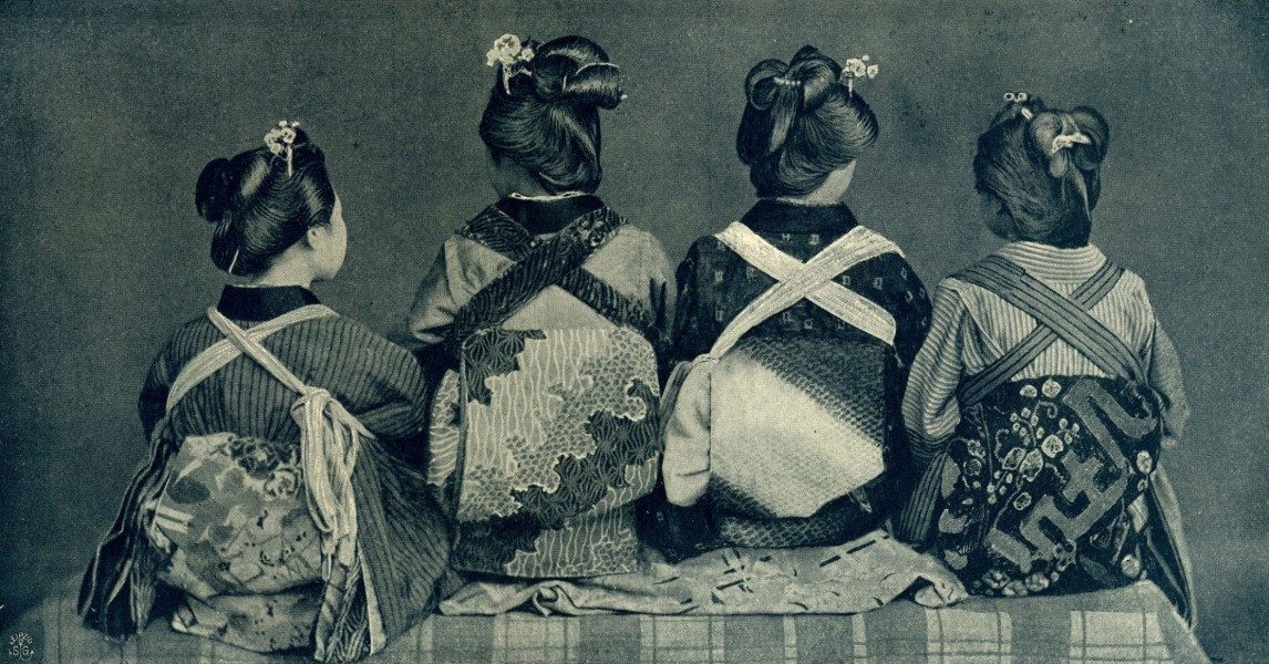 Japanese in obi. Before 1902