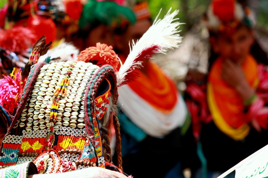 Kalash womens headdress