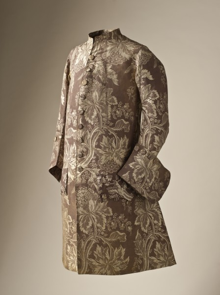 Man's coat silk lampas 1745-50