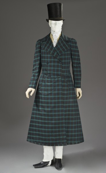 Man's silk and wool twill frock coat c. 1820