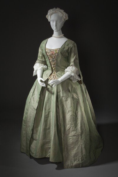 Robe a la Française and embroidered stomacher