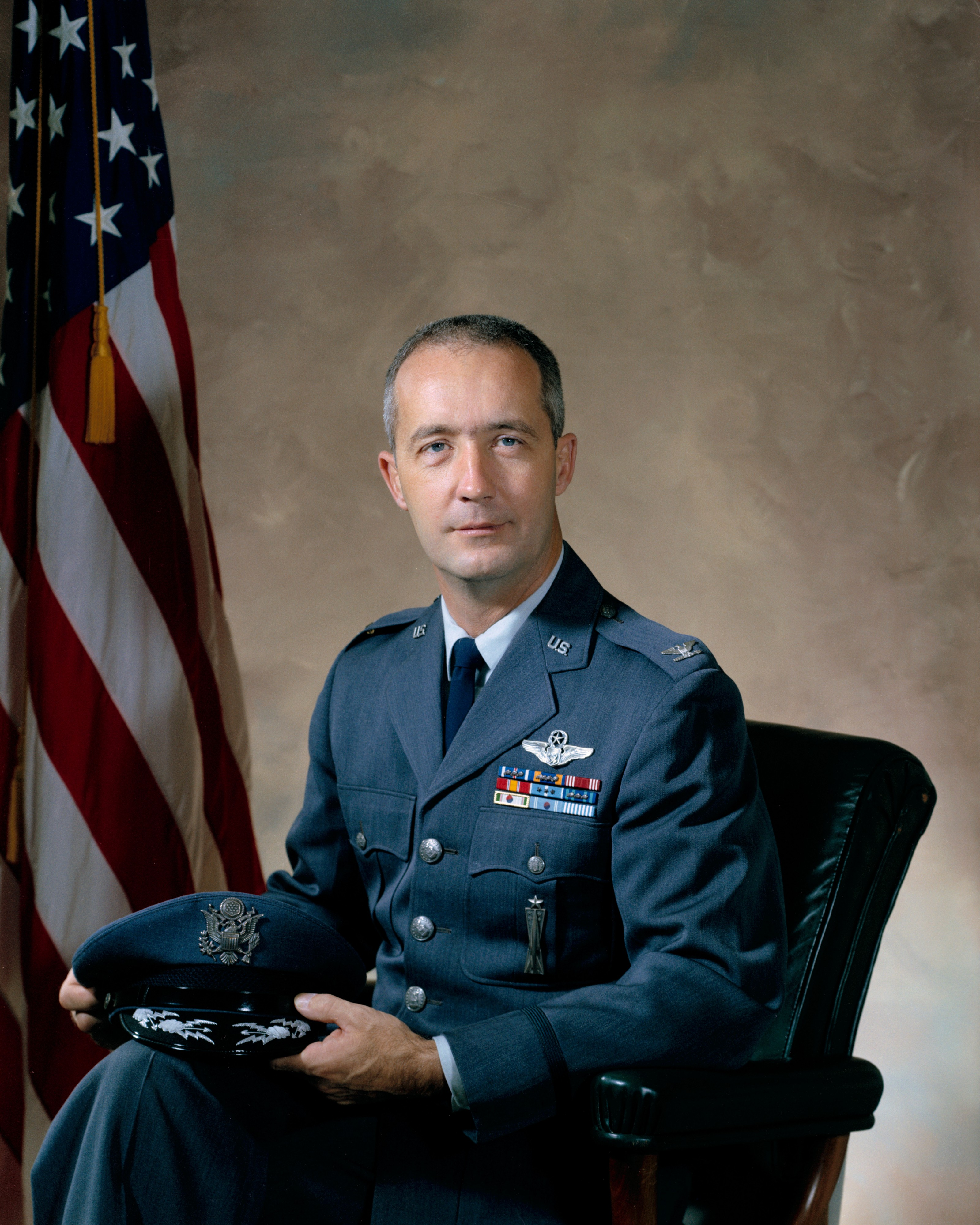 Astronaut James A. McDivitt in Air Force uniform