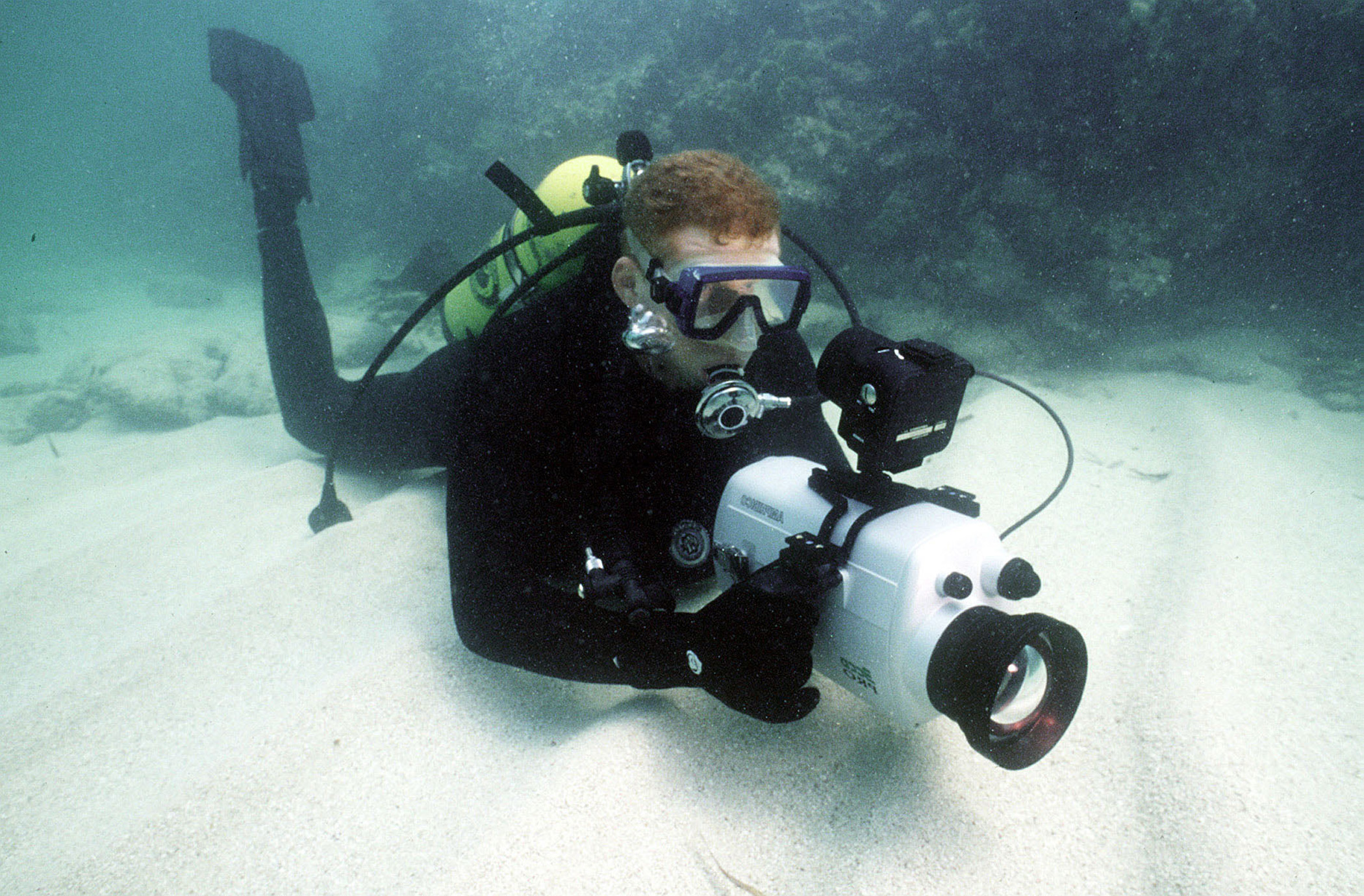 960308-N-3093M-010 Navy Photographic Diver
