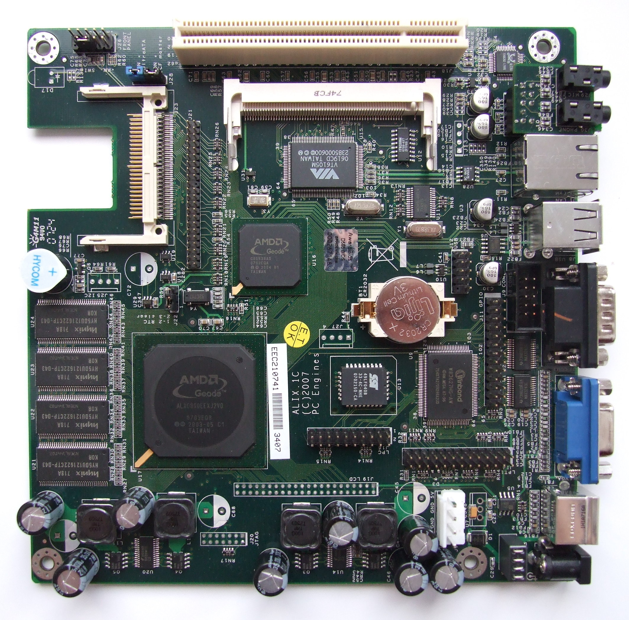 Alix.1C board with AMD Geode LX 800 (PC Engines)