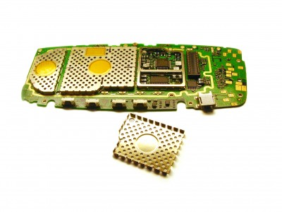 Electromagnetic shielding inside mobile phone