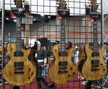 Fernandes Monterey Deluxe, Ravelle Deluxe, Dragonfly Deluxe (Spalted Maple), 2010 Summer NAMM