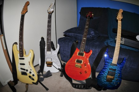 My current stable of guitars (by Art Bromage)