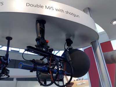 Schoeps Double MS with shotgun microphones 2, AES 124th