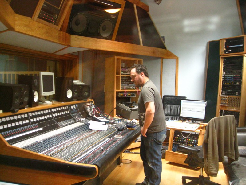 Control room of Supernatural Sound