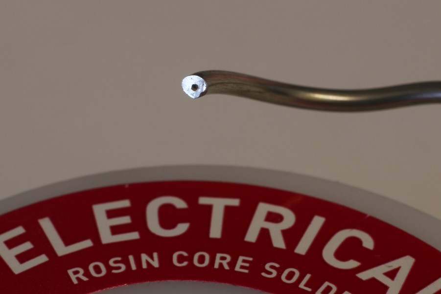 Rosin core electrical solder