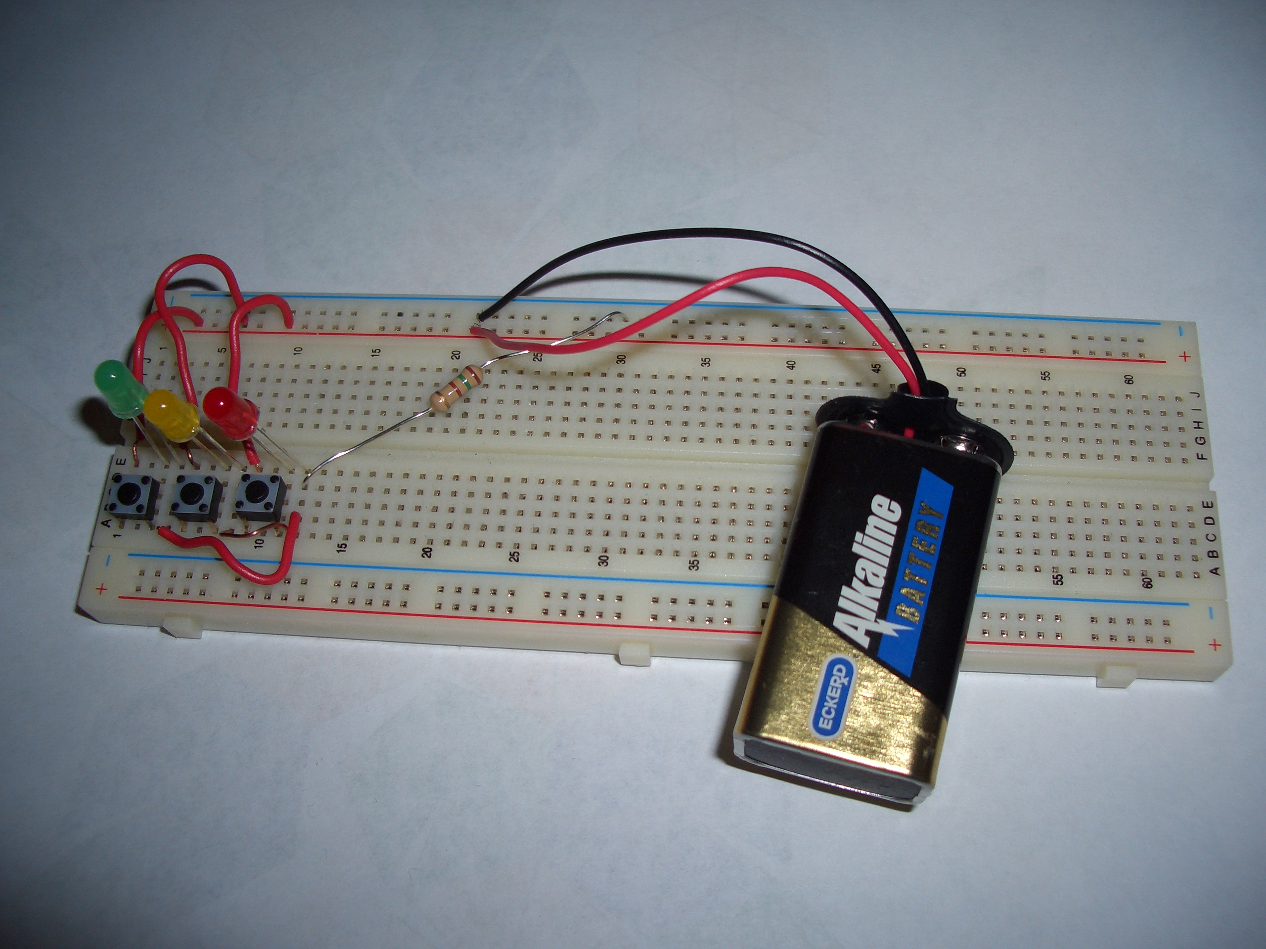 Solderless Breadboard with LEDs