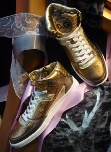 D&G Golden Sneakers