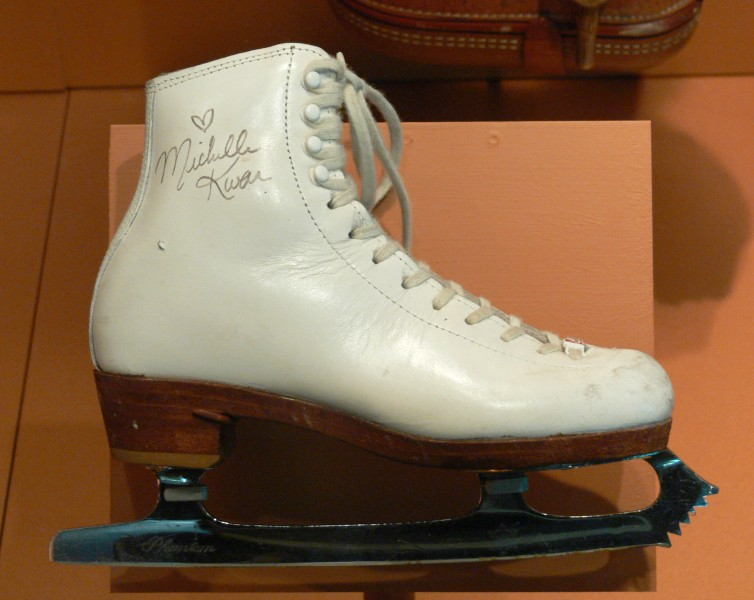 Ice skate Michelle Kwan c1995 Womens Museum