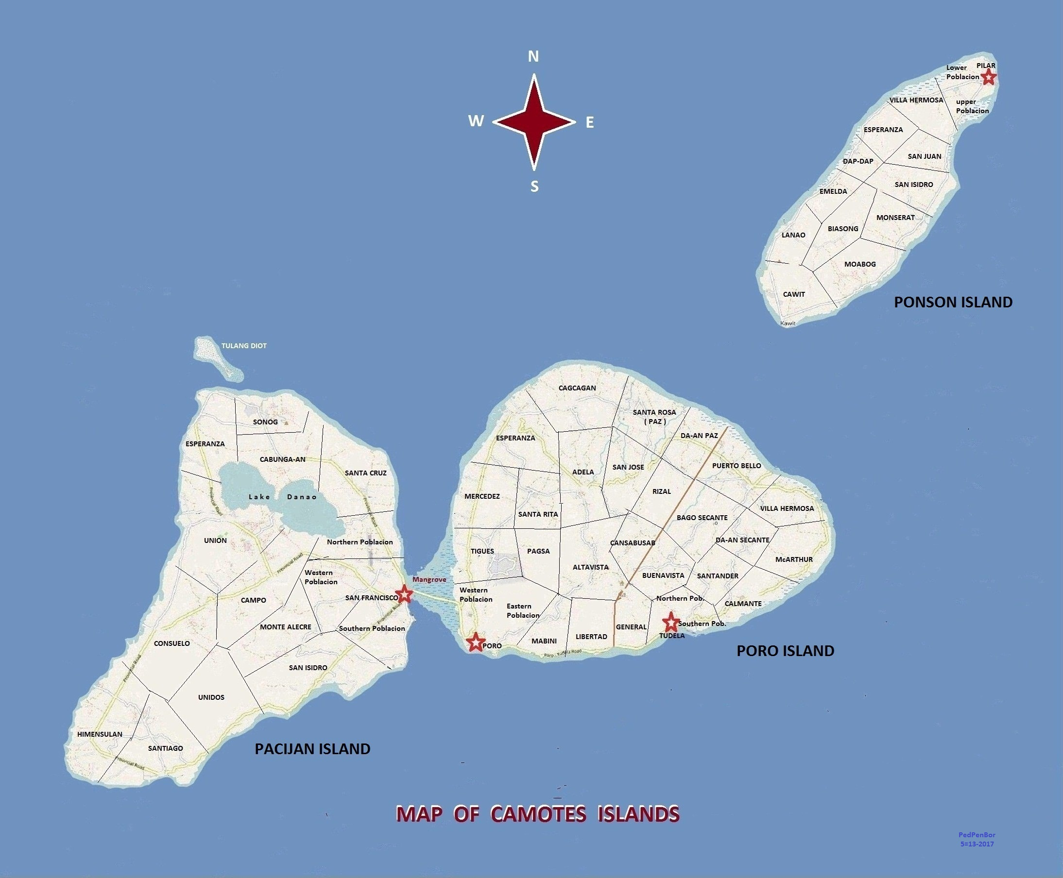 Map of Camotes Islands