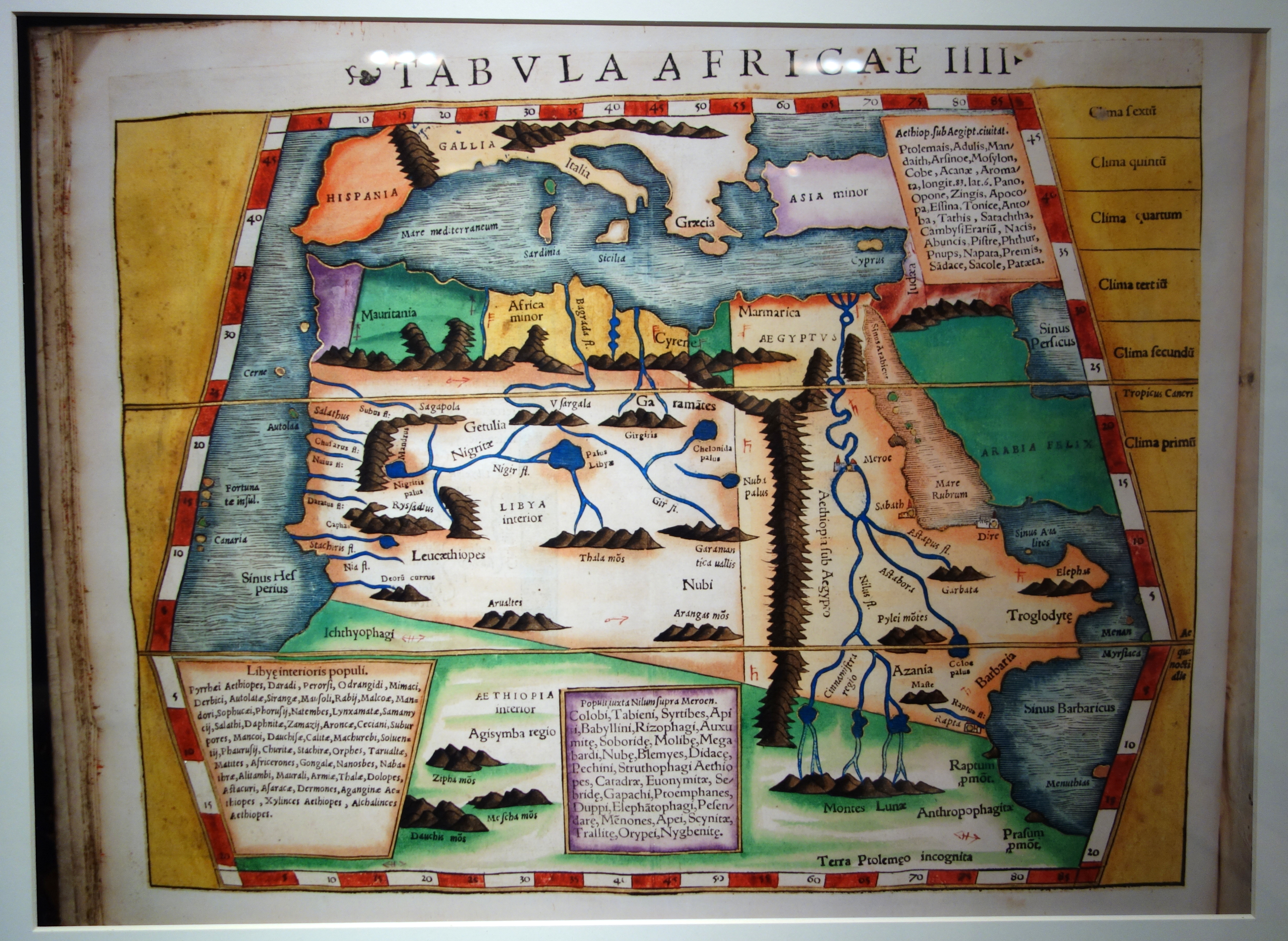 Geographia by Ptolemy, Aphricae Tabula IIII, 1540 Basel edition - Maps of Africa - Robert C. Williams Paper Museum - DSC00631