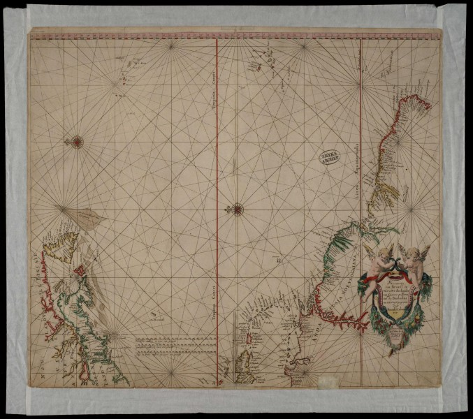 AMH-8565-NA Map of the coasts of North and South America, from Brazil to Canada