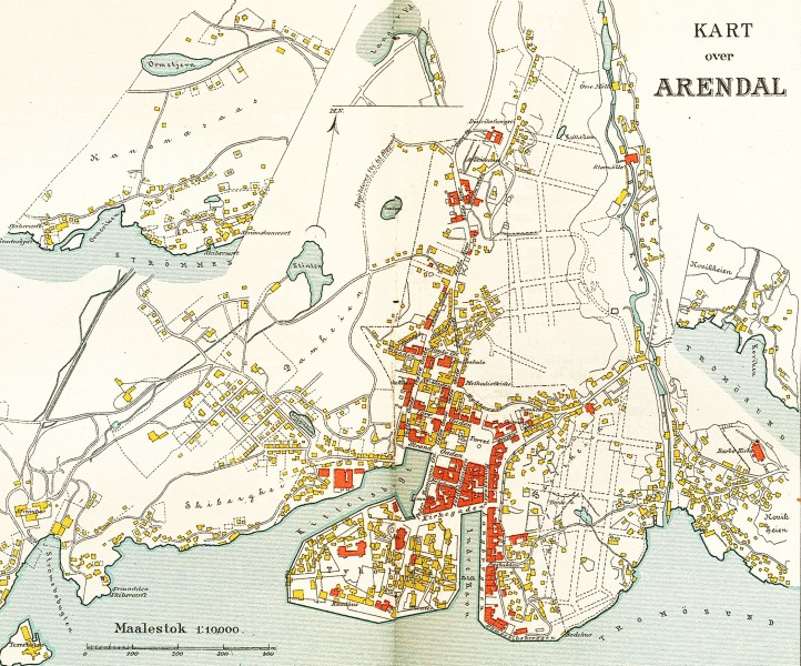 Arendal map 1904