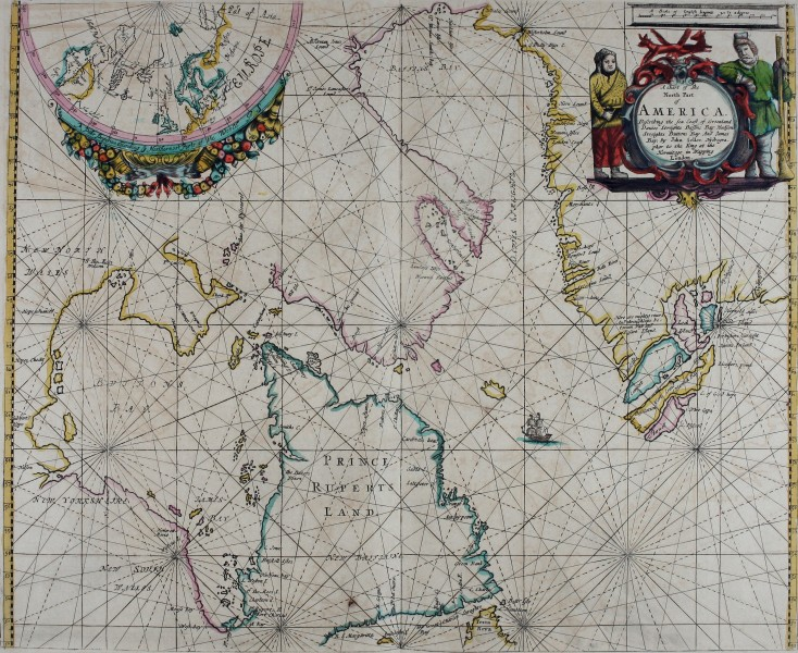 Atlas maritimus, or A book of charts - Describeing the sea coasts capes headlands sands shoals rocks and dangers the bayes roads harbors rivers and ports, in most of the knowne parts of the world. (14566804719)