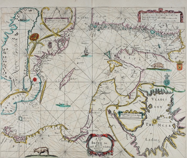 Atlas maritimus, or A book of charts - Describeing the sea coasts capes headlands sands shoals rocks and dangers the bayes roads harbors rivers and ports, in most of the knowne parts of the world. (14751097354)