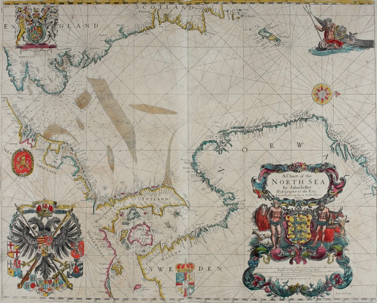 Atlas maritimus, or A book of charts - Describeing the sea coasts capes headlands sands shoals rocks and dangers the bayes roads harbors rivers and ports, in most of the knowne parts of the world. (14753113482)