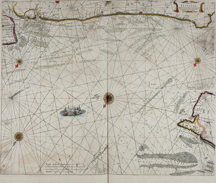 Atlas maritimus, or A book of charts - Describeing the sea coasts capes headlands sands shoals rocks and dangers the bayes roads harbors rivers and ports, in most of the knowne parts of the world. (14753119292)