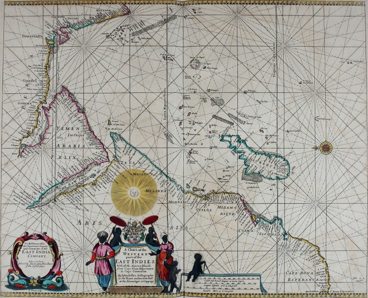 Atlas maritimus, or A book of charts - Describeing the sea coasts capes headlands sands shoals rocks and dangers the bayes roads harbors rivers and ports, in most of the knowne parts of the world. (14773319483)