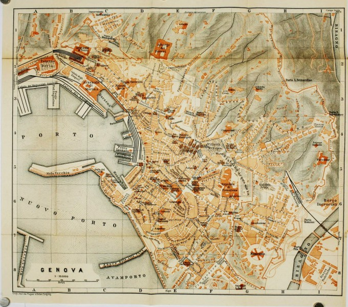 Genoa 1886 - Italy handbook for travellers