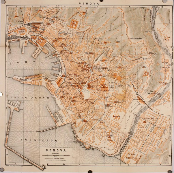 Genoa 1906 - Italy handbook for travellers