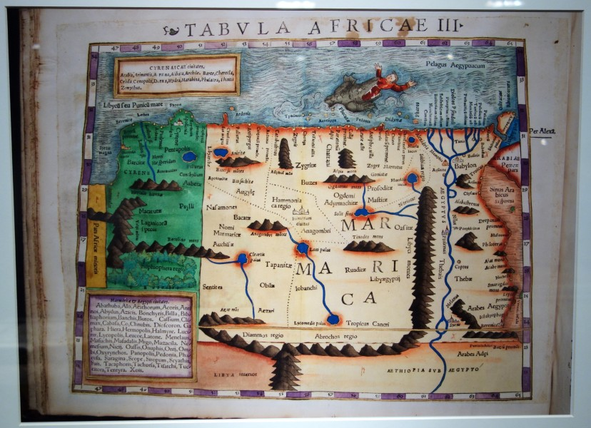 Geographia by Ptolemy, Aphricae Tabula III, 1540 Basel edition - Maps of Africa - Robert C. Williams Paper Museum - DSC00625