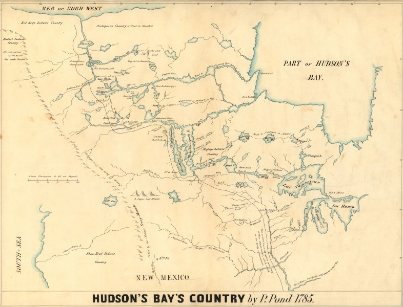 Hudson's Bay's Country (Peter Pond 1785)