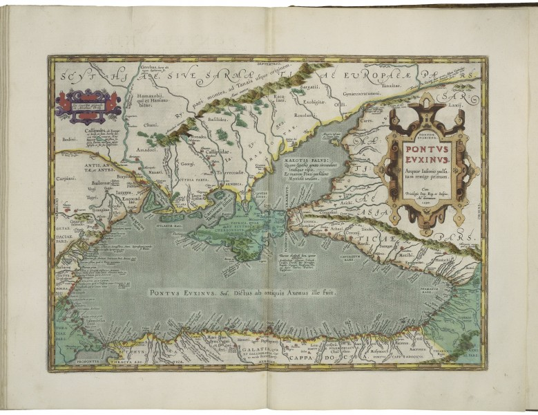 Map of the Black Sea by Abraham Ortelius