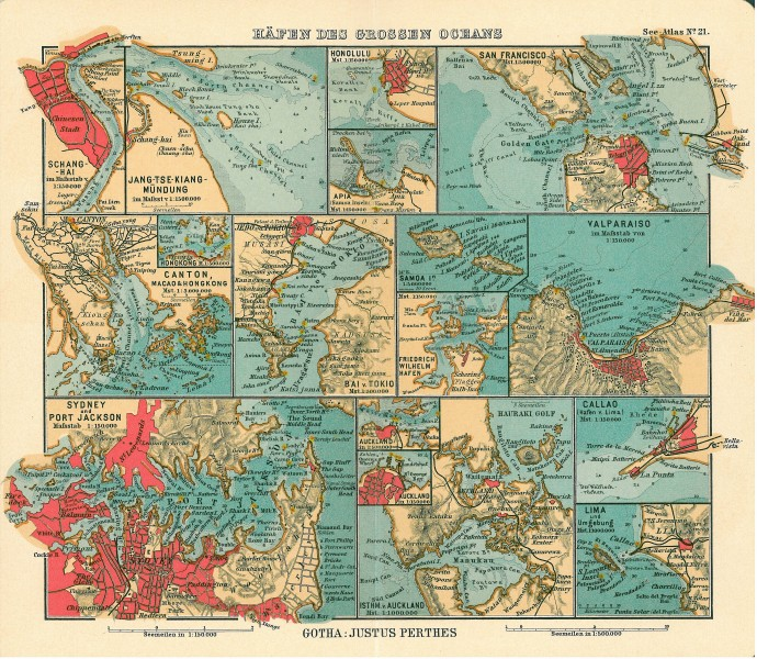 Pacific ocean seaports 1906