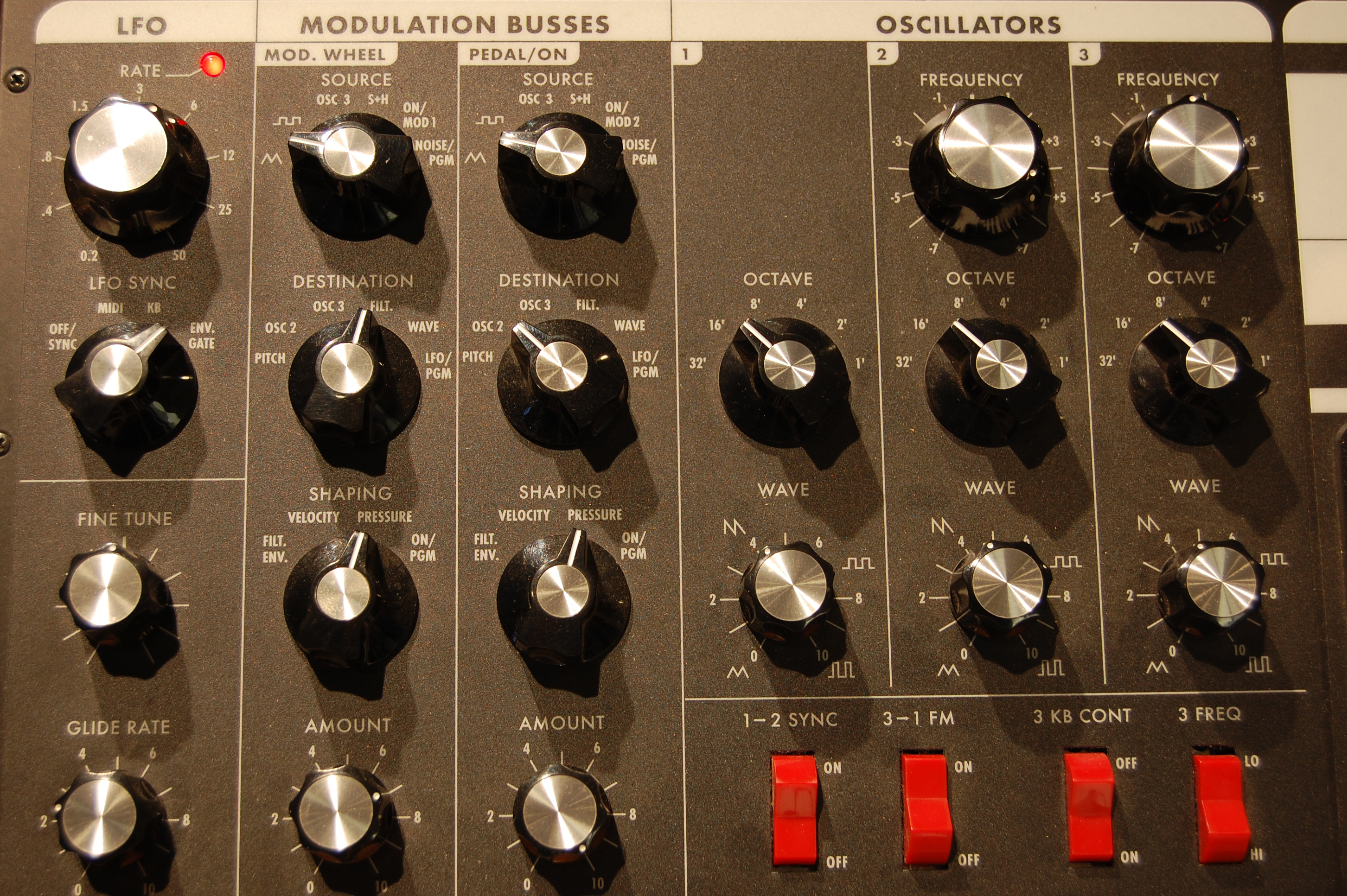 Minimoog Voyager (left panel)