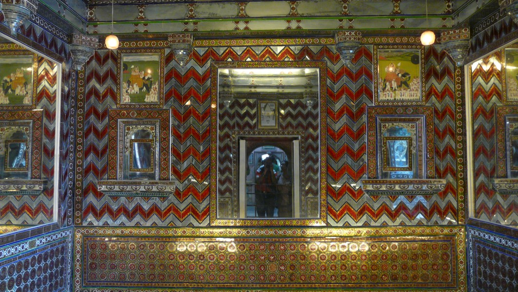 Mirror room, City Palace, Udaipur