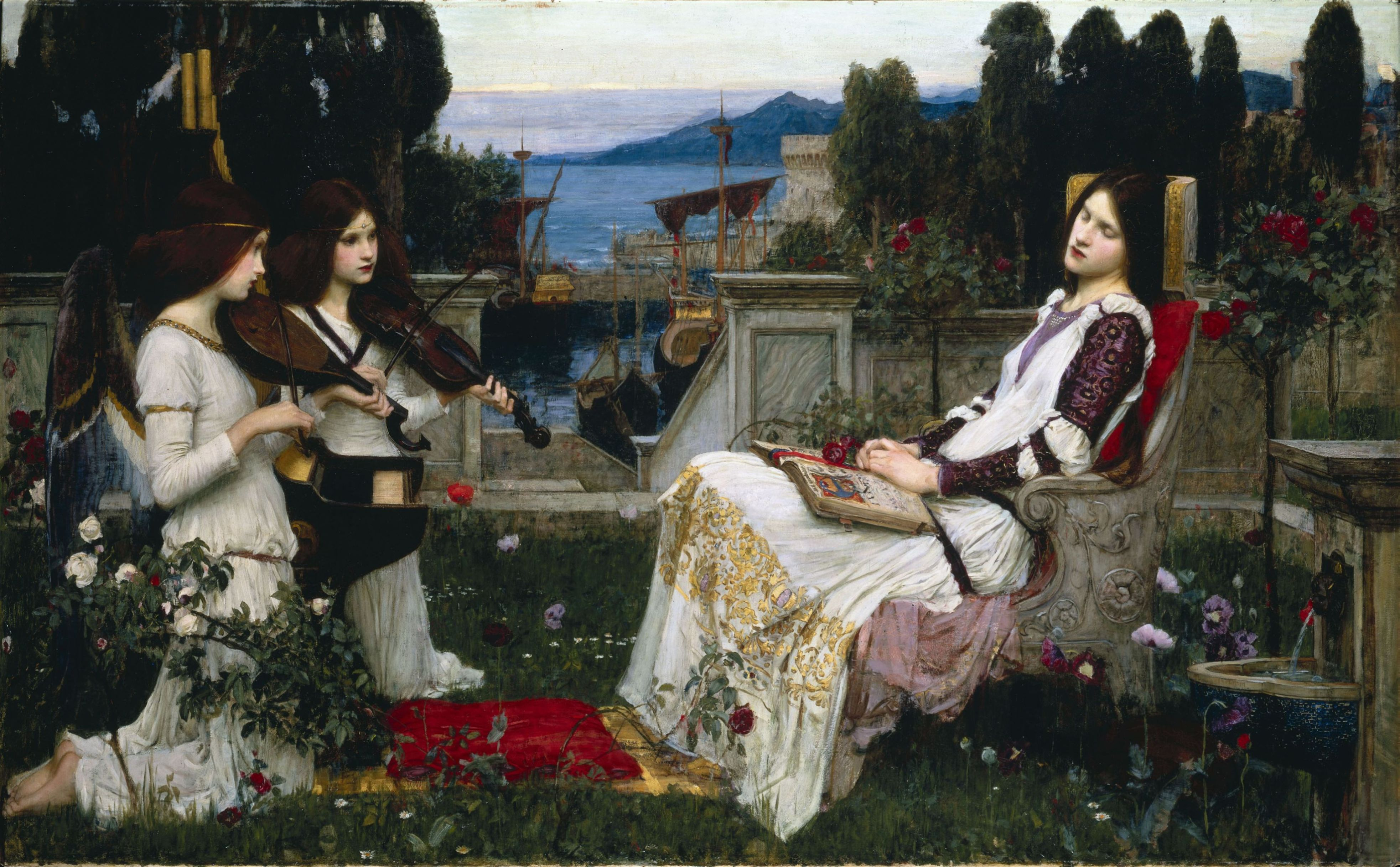 Waterhouse, John William - Saint Cecilia - 1895