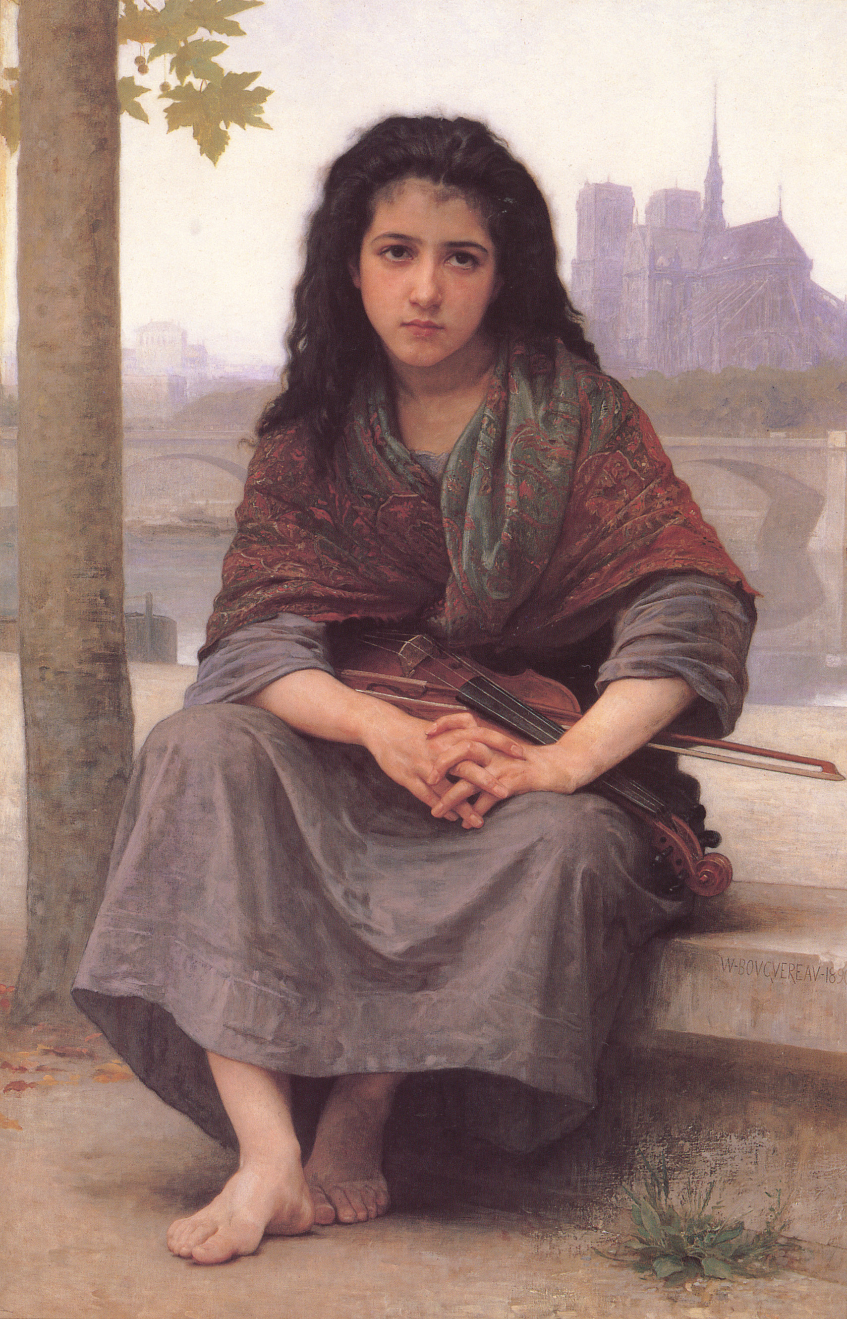 William-Adolphe Bouguereau (1825-1905) - The Bohemian (1890)