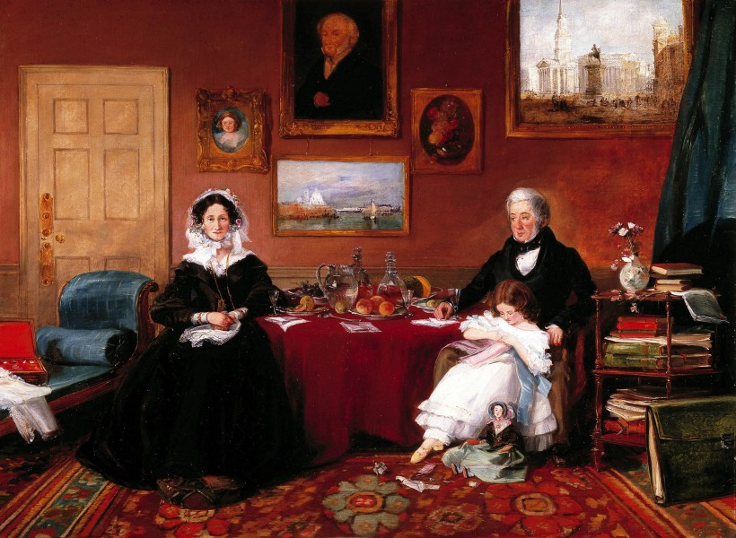 The Langford Family in their Drawing Room) by James Holland, RWS