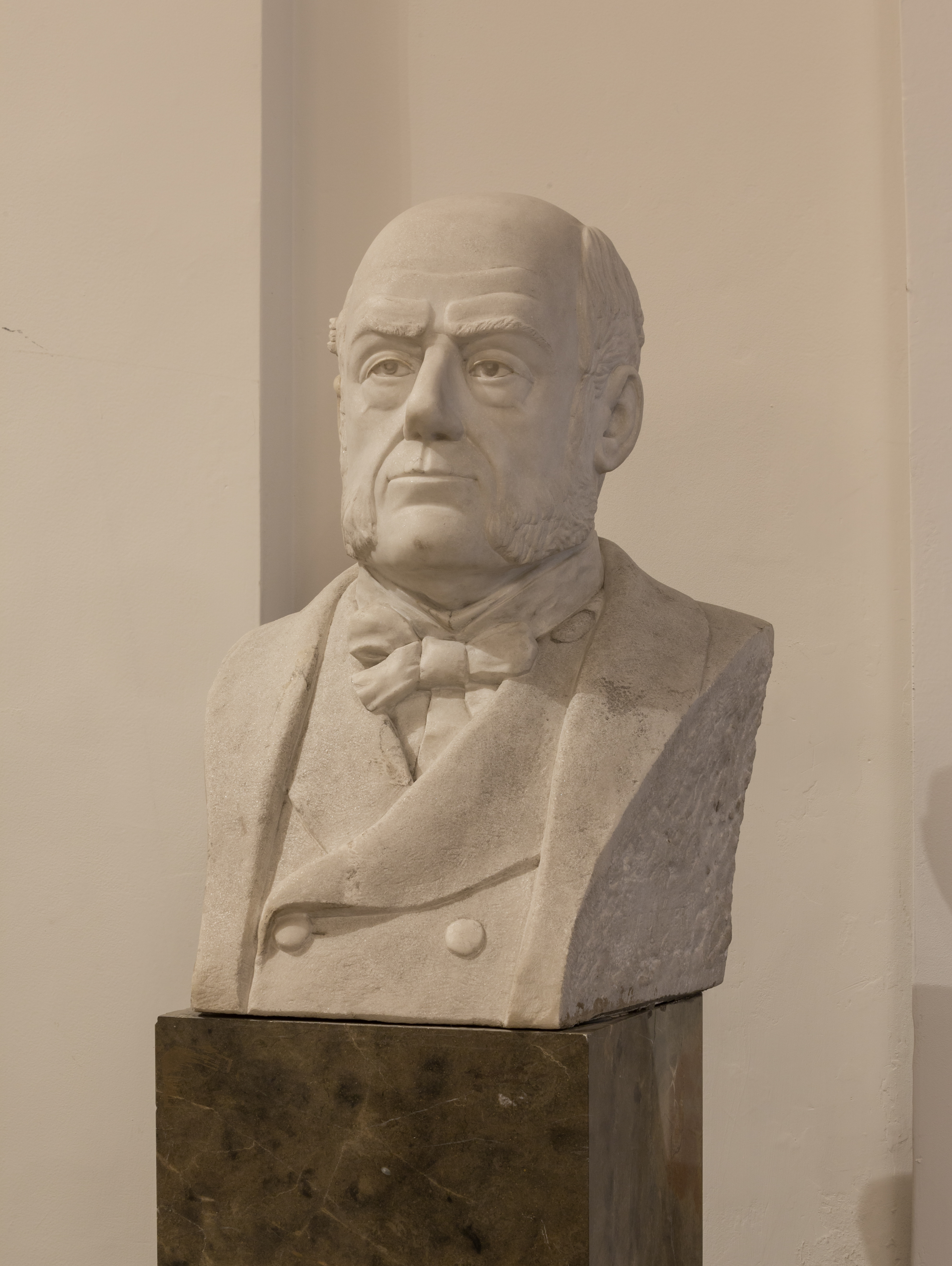 Carl von Rokitansky, Pathologist, bust in the aula of the Academy of Sciencis, Vienna - hu - 8547