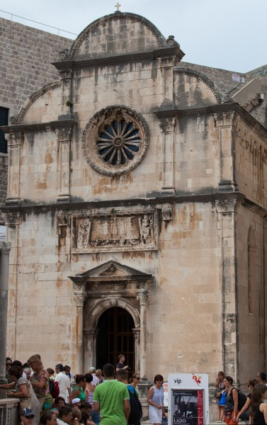 a church in Dubrovnik, Croatia, Europe, July 2014, picture 8