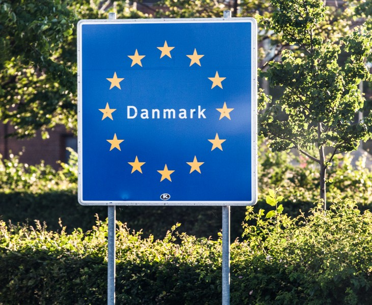 entering Denmark in Helsingør city (arriving by ferry from Helsingborg, Sweden), Denmark, June 2014, picture 9